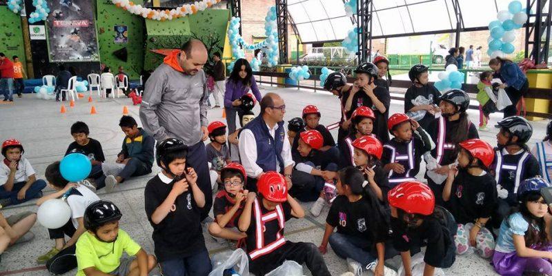 40 niños participaron en festival temático de escalada