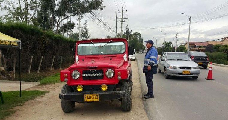 Operativos de prevencion y control al transporte en Chia