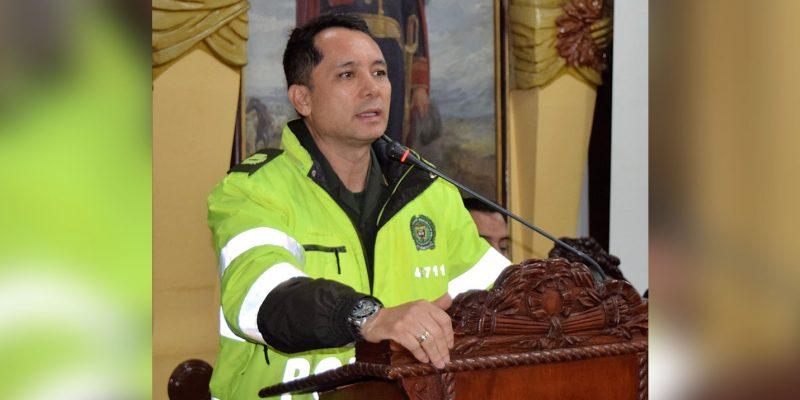 El Comandante de Policía de Cundinamarca coronel José Miguel Correa fue condecorado por la Asamblea
