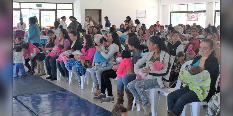 Con lactatón Cajicá sensibiliza a familias sobre importancia de la leche materna en la primera infancia