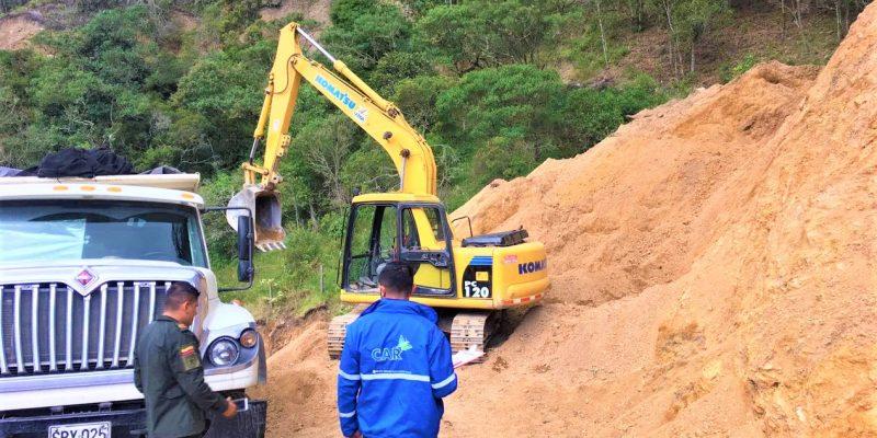 Operativo contra la minería ilegal en la regional Sabana Occidente