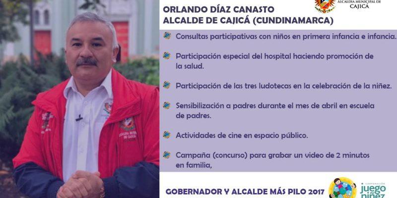 Orlando Diaz Canasto premiado como el