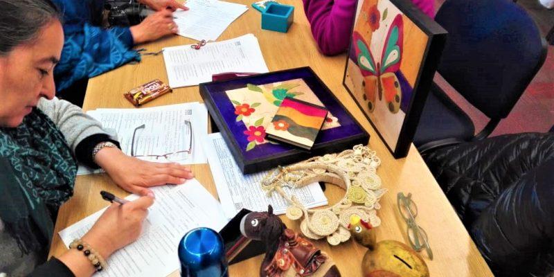 Encuentro de artesanos cajiqueños con Artesanías de Colombia