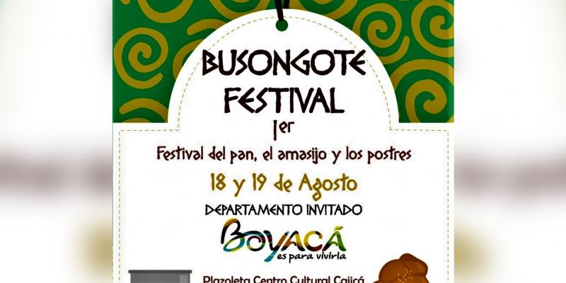 Cajica sede de Busongote Primer Festival de Amasijos y Dulces
