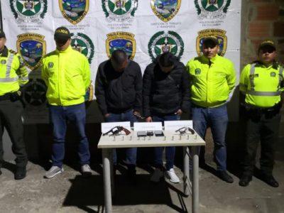 Capturadas dos personas dedicadas al hurto de vehiculos de carga en Cundinamarca