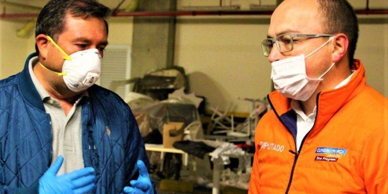 El alcalde Ramirez y el diputado Rojas una alianza a favor de familias vulnerables por el covid 19