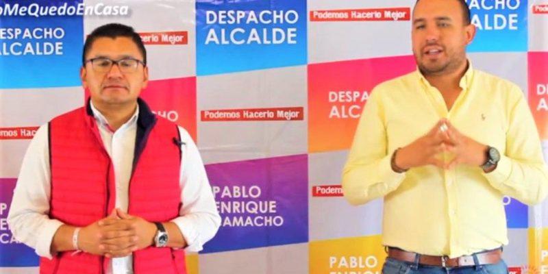 Alcaldia de Tabio organiza listado de familias muy necesitadas para entregarles auxilios