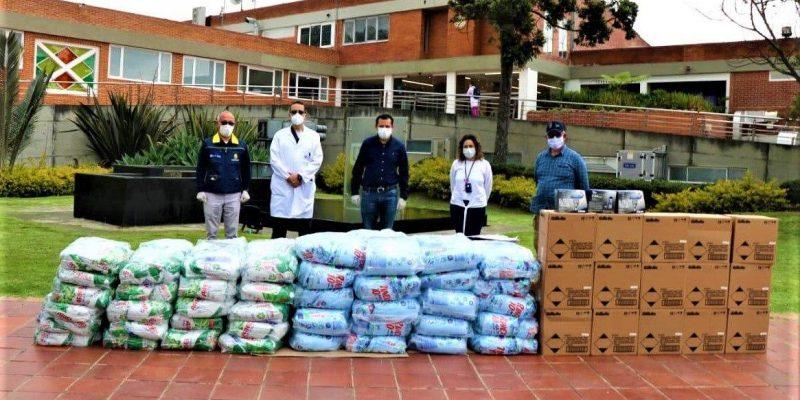Chia recibe donaciones para reforzar la atencion ante la contingencia del covid 19