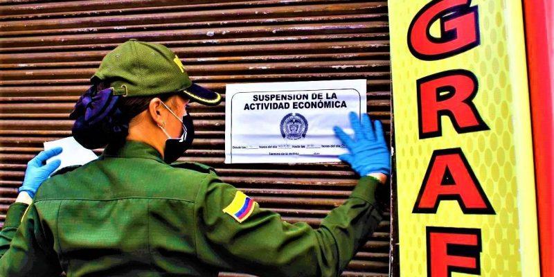 En Chia fueron sellados y multados varios establecimientos comerciales
