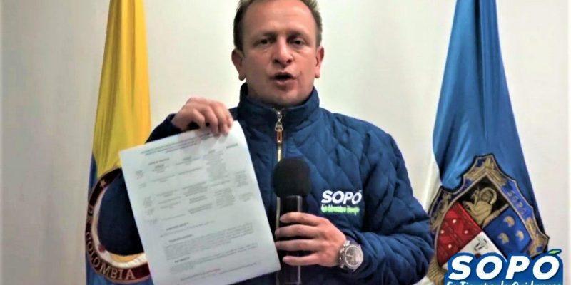 Alcalde de Sopo precisa frente a denuncia sobre presunta corrupcion
