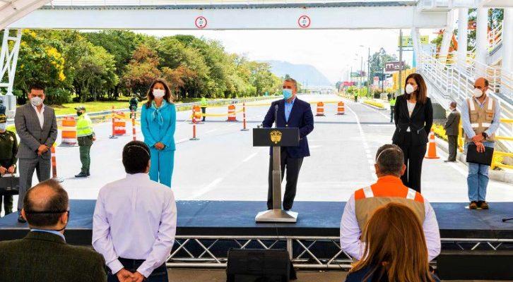 Presidente Duque entrego las obras de ampliacion de la Autopista Norte Bogota Cundinamarca 1