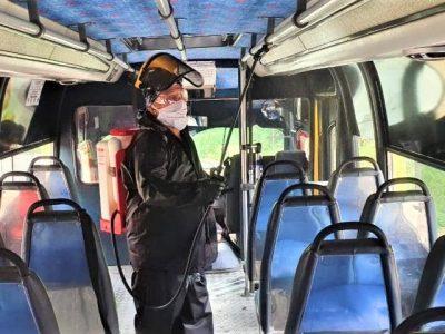 Empresas de transporte publico no deben permitir mas del 50 del cupo total