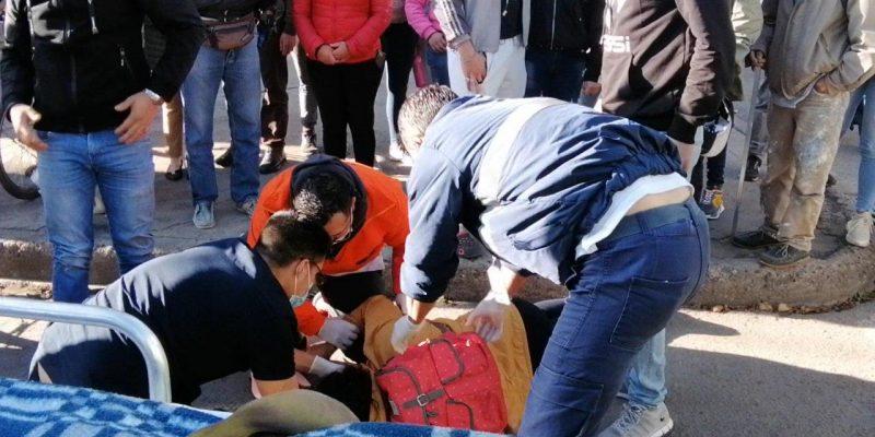 Mas de una hora mujer atropellada estuvo tirada en el piso sin que fuera atendida