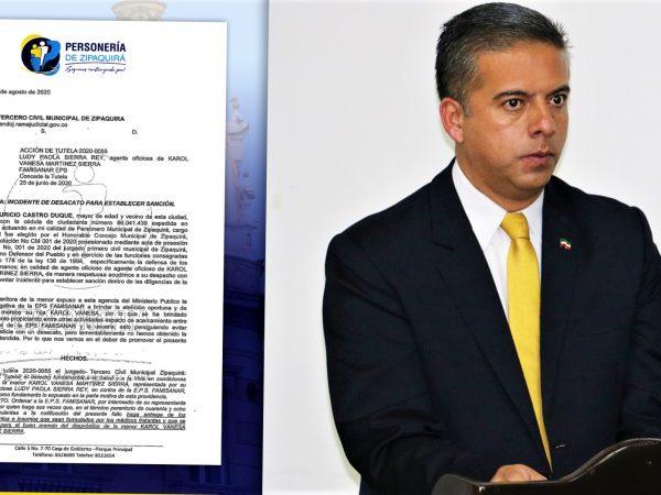 Por desacato a accion presentada por la Personeria de Zipaquira fue sancionada EPS Famisanar