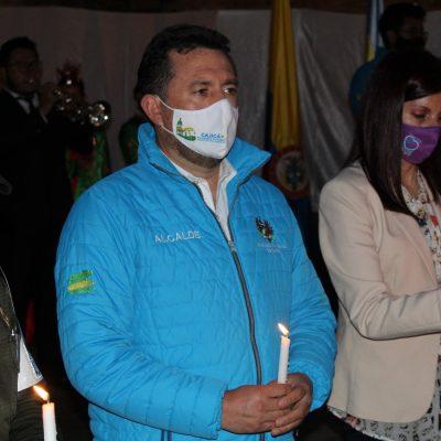 Cajica alzo su voz por las mujeres victimas de la violencia