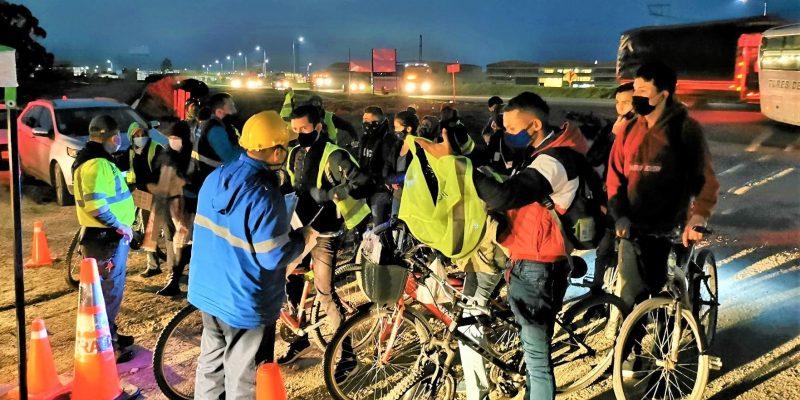 En Tocancipa la ANSV adelanto campanas de proteccion y pedagogia a ciclistas