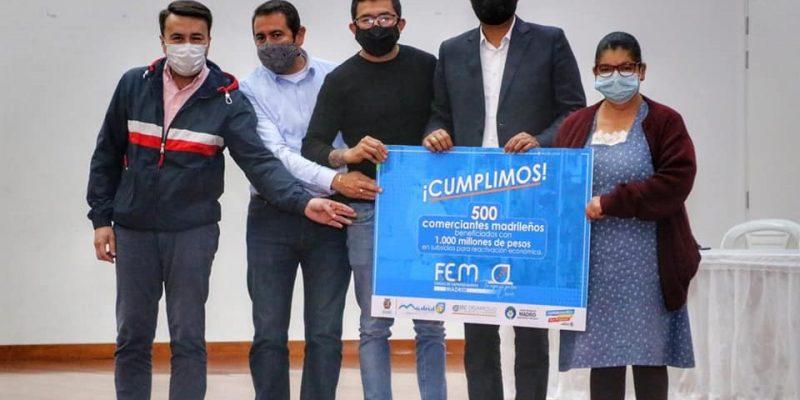 Comerciantes de Madrid Cundinamarca reciben mil millones para su reacivacion economica