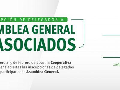 Coopederez convoca a inscripcion de delegados para participar en la Asamblea General