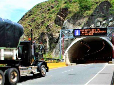 Hoy 14 y el 20 de enero se realizaran cierres en el tunel Sumapaz