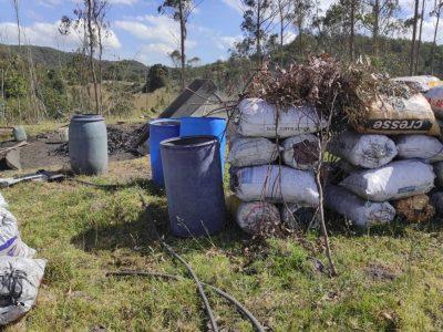 Capturadas dos personas por realizar quemas a cielo abierto en Reserva Forestal de la cuenca del Rio Bogota