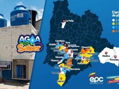 Entregan plantas de agua potable en escuelas rurales de Cundinamarca